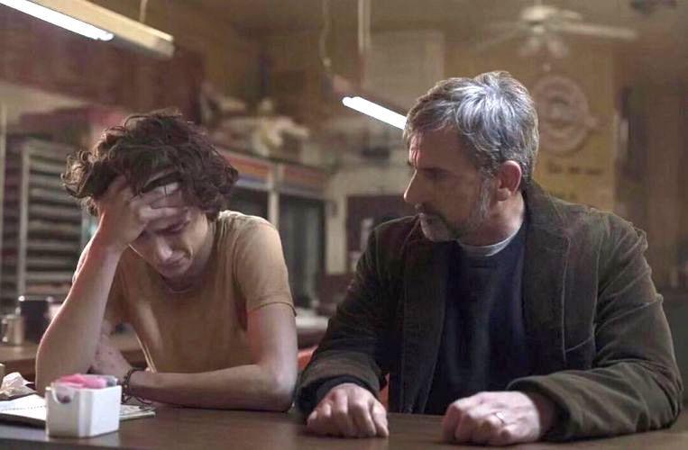 Timothée Chalamet en Steve Carell in 'Beautiful Boy'