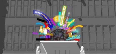 PVV over nieuw kunstwerk bibliotheek Neude: 'Neonkermis à la Las Vegas'
