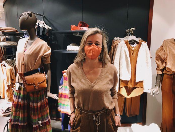 Nathalie De Hauwere van Tiffanys in de Nieuwstraat.