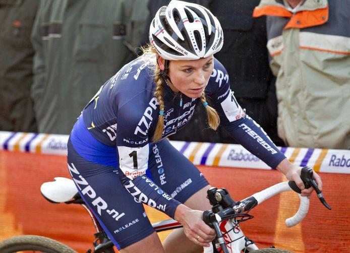 Daphny van den Brand geniet vooral naam en faam als veldrijder. In actie als mountainbiker zijn er geen archieffoto's te vinden. Vanwege hevige hooikoorts kon ze niet uitblinken in haar grote passie.