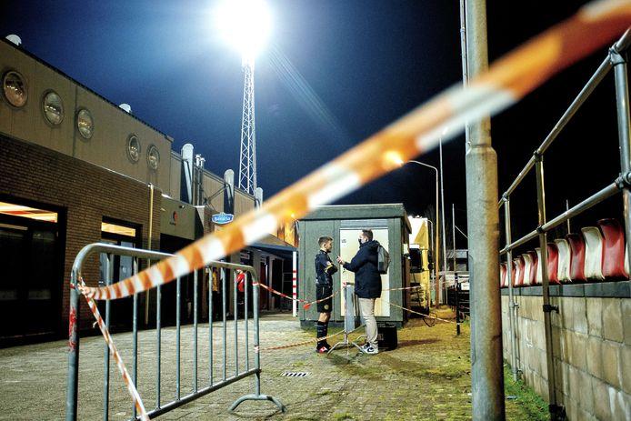 De mixed zone, na de wedstrijd Helmond Sport - Roda JC (1-2)