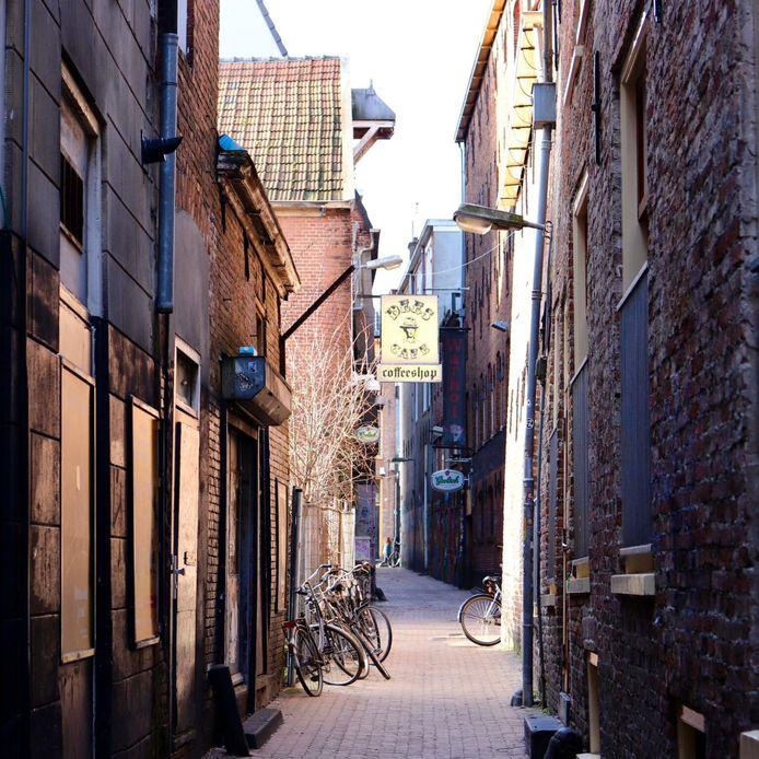 Straatbeeld in Groningen.