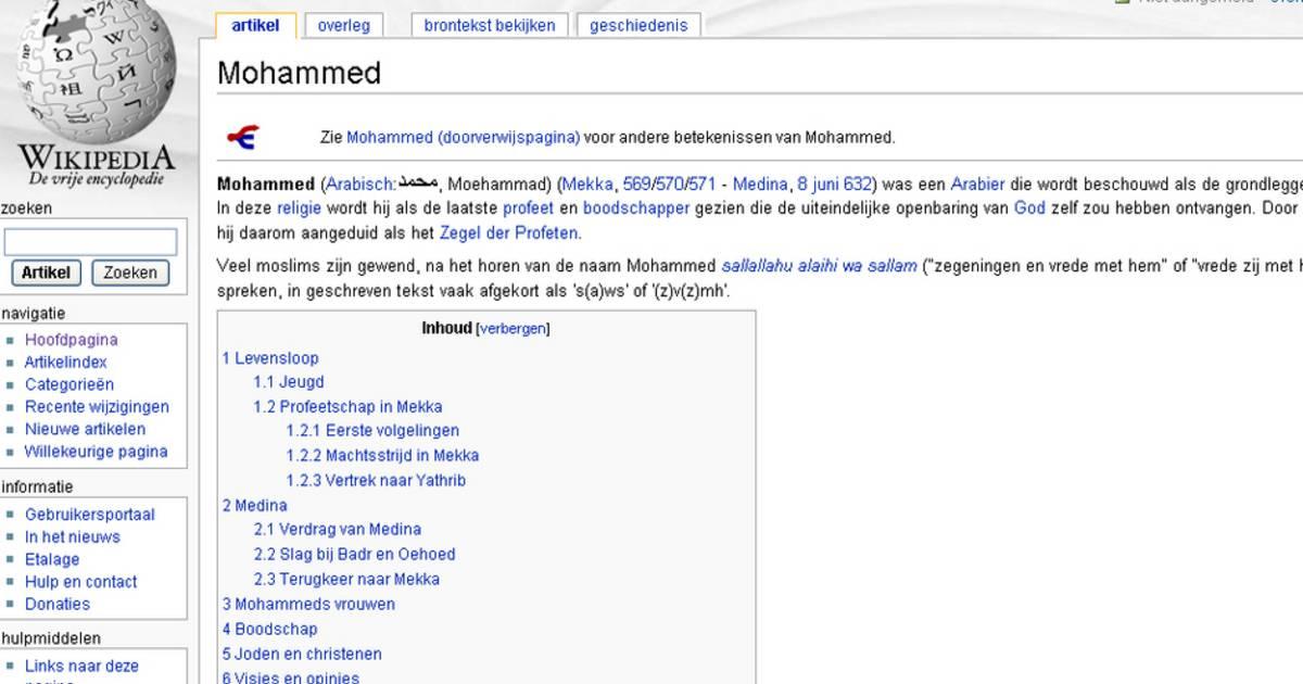 Nederlands Ministerie Knoeide Met Mohammed Op Wikipedia Buitenland Hln Be