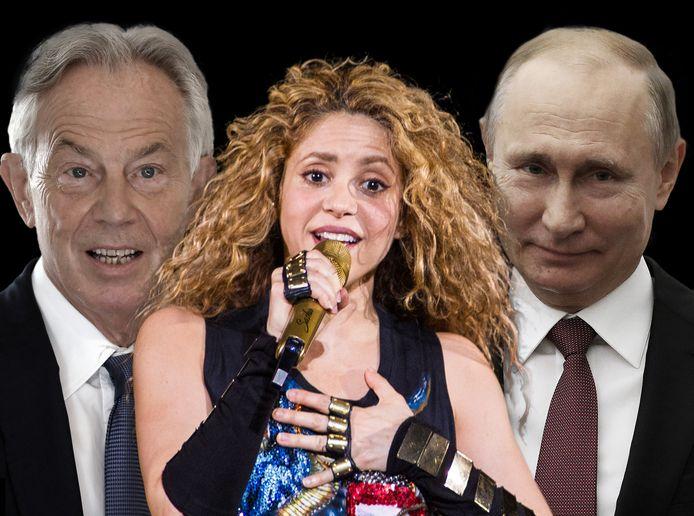 Blair, Shakira en Poetin komen voor in de Pandora Papers