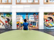 Graffitiartiest KBTR spuit Utrechts drieluik in Antonius Ziekenhuis
