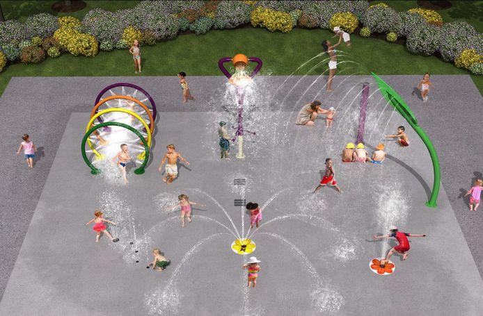 De plannen voor het Spraypark.