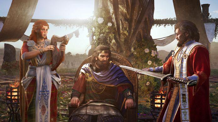 In de nieuwe uitbreiding moet je, in opdracht van koning Flann Sinna (midden), de feodale heren van drie provincies bij elkaar brengen.