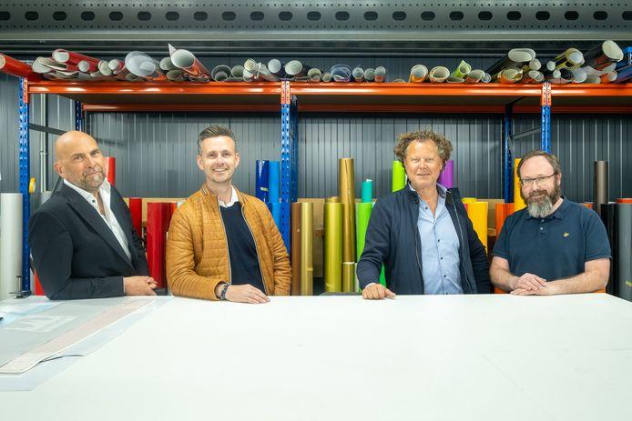 Alain Jacobs en Wesley Dewachter van Viaprint en Wim Voss en Johan Ceuleers van Printix starten joint venture Viaprintix