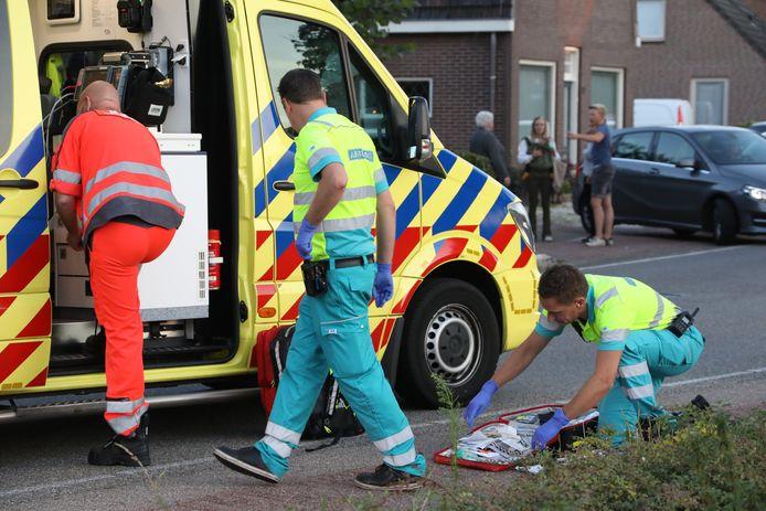 De vrouw kwam ten val en liep een forse hoofdwond op.