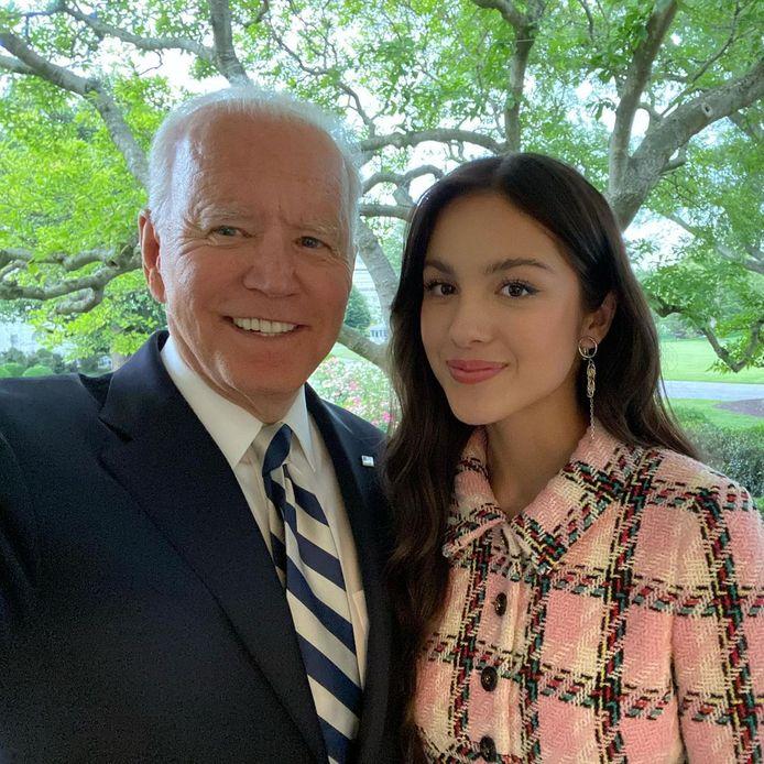 Olivia Rodrigo avec Joe Biden.