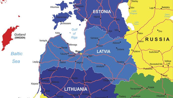 Les pays Baltes (du nord au sud: Estonie, Lettonie et Lituanie) craignent une ingérence de la Russe