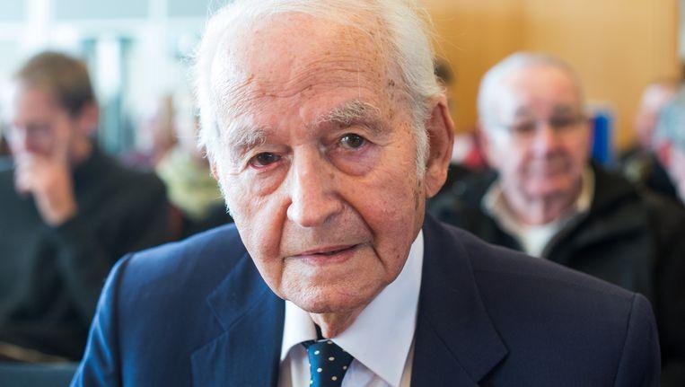 Auschwitz-overlevende Leon Schwarzbaum. Beeld AP