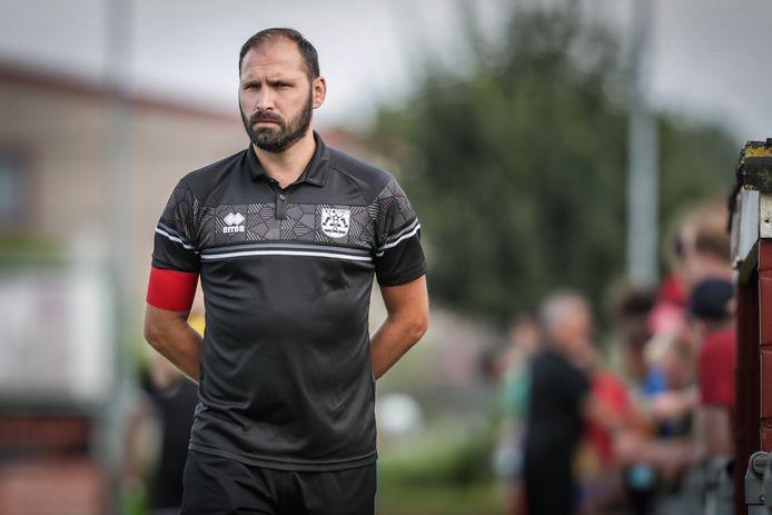 Maxime Annys (KVK Wellen) met de focus op de wedstrijd tegen Witgoor Dessel van zaterdagavond.