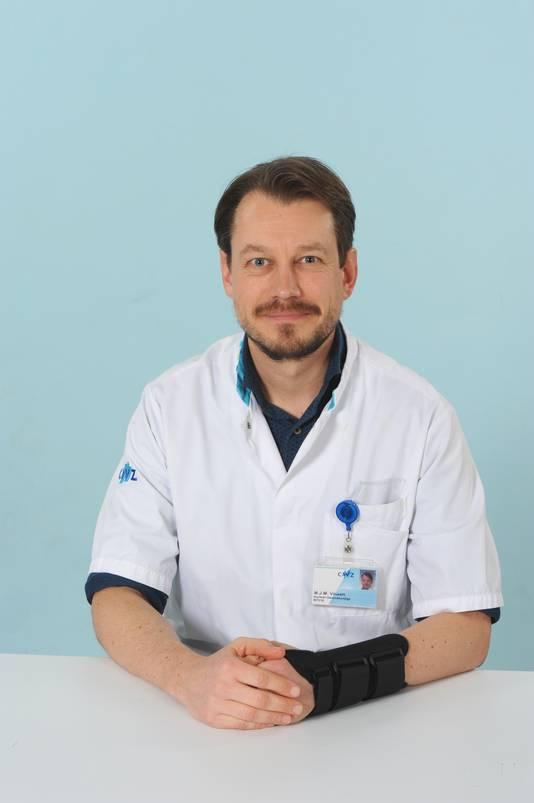Nucleair geneeskundige Maarten Vinken van het CWZ.