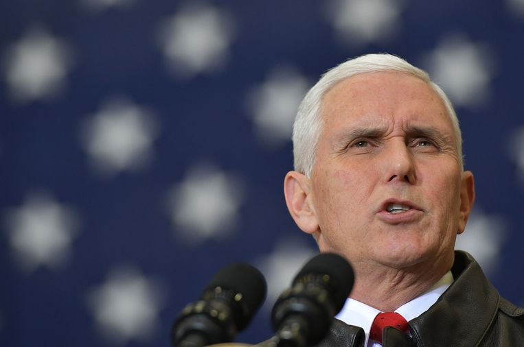 Vice-president Mike Pence Beeld AFP