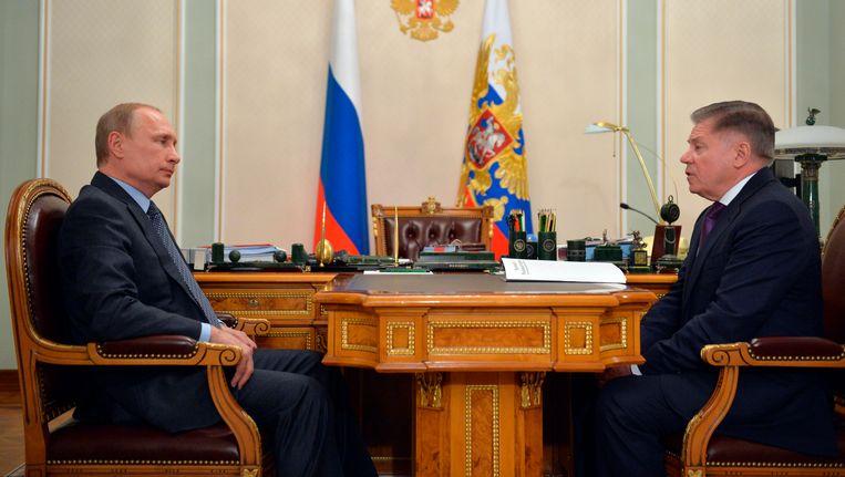 Vladimir Poetin op de nieuwe beelden. Beeld AP