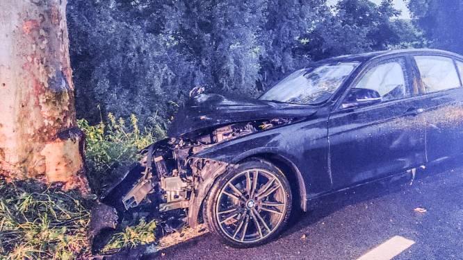 Auto tegen boom nadat bestuurder controle over stuur verliest