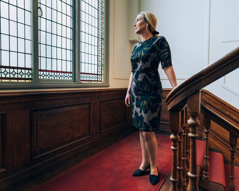 Sigrid Kaag: 'Ik vind het verbazingwekkend dat ik als minister en vrouw met dertig jaar carrière wordt aangesproken op mijn echtgenoot.' Beeld Rebecca Fertinel