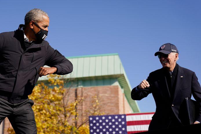 Barack Obama et Joe Biden durant la campagne présidentielle en octobre 2020.