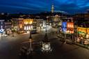 Het uitzicht vanuit Hotel Central aan de Markt in Den Bosch.