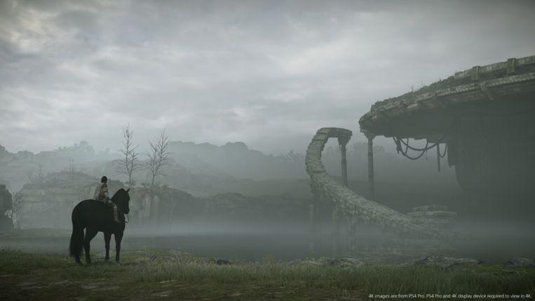 Eenzaamheid is een belangrijk thema in Shadow of the Colossus. Beeld PlayStation
