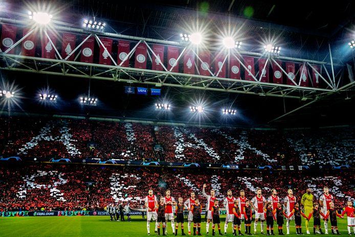 Ajax staat klaar voor het duel met Juventus, vorig seizoen.