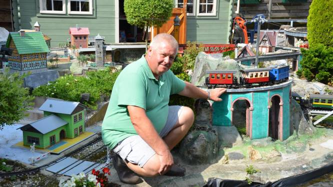 Tuin omgebouwd tot treinparadijs