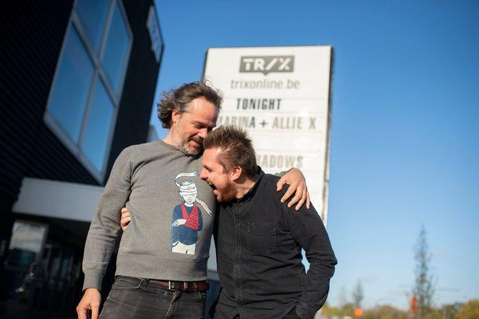Dieter Sermeus en Marcus Deblaere van Trix in betere tijden.