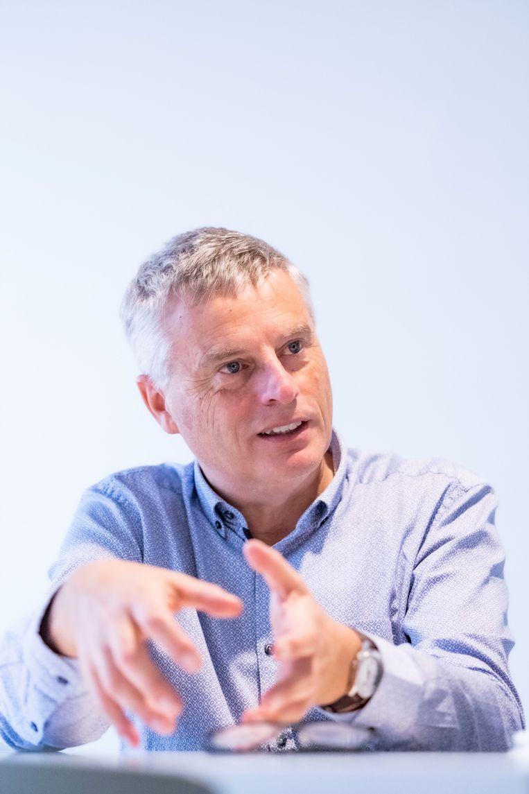 Vaccinoloog Johan Neyts (KULeuven). Beeld Jonas Lampens