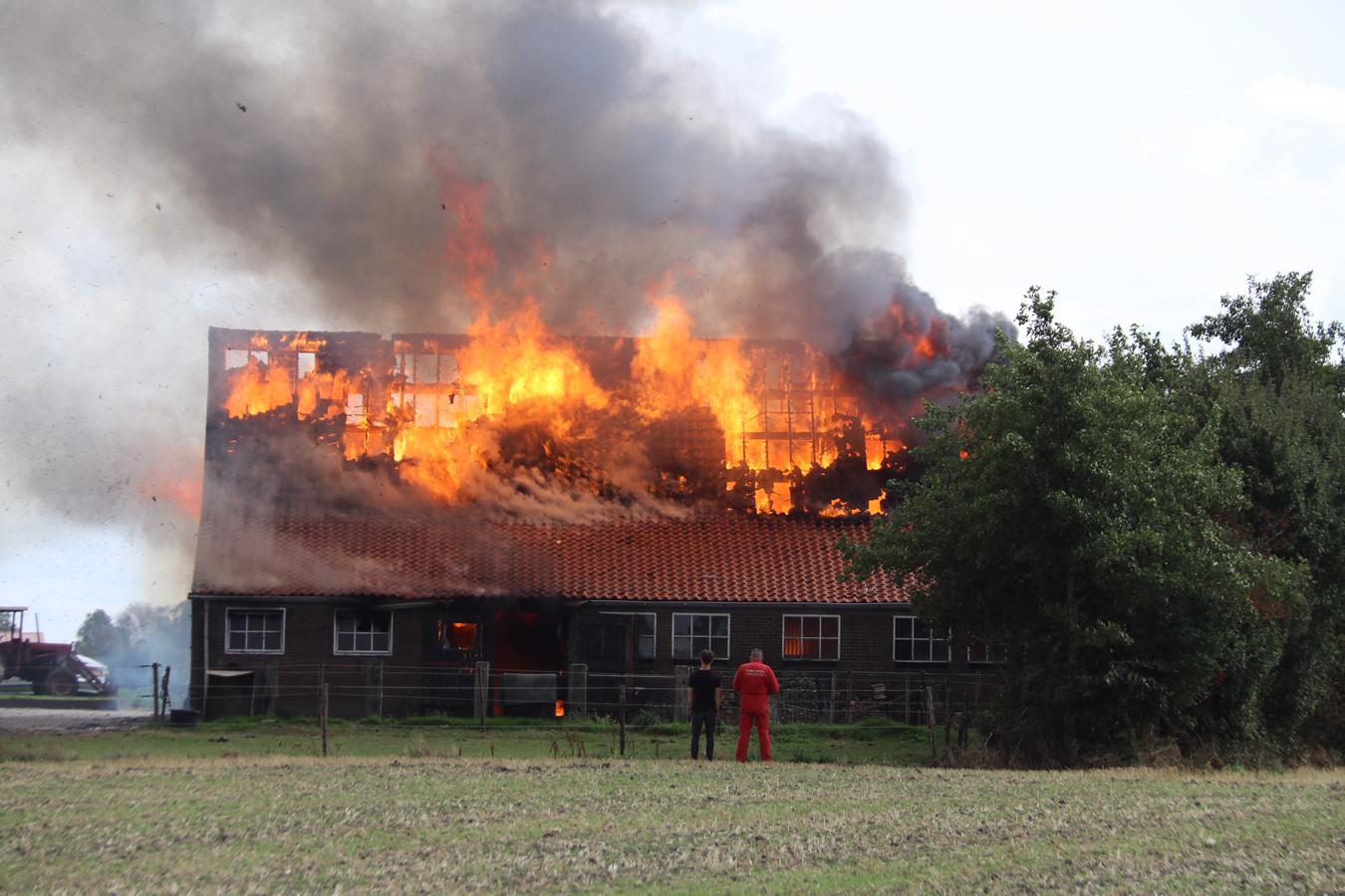 Grote brand in Ritthem.