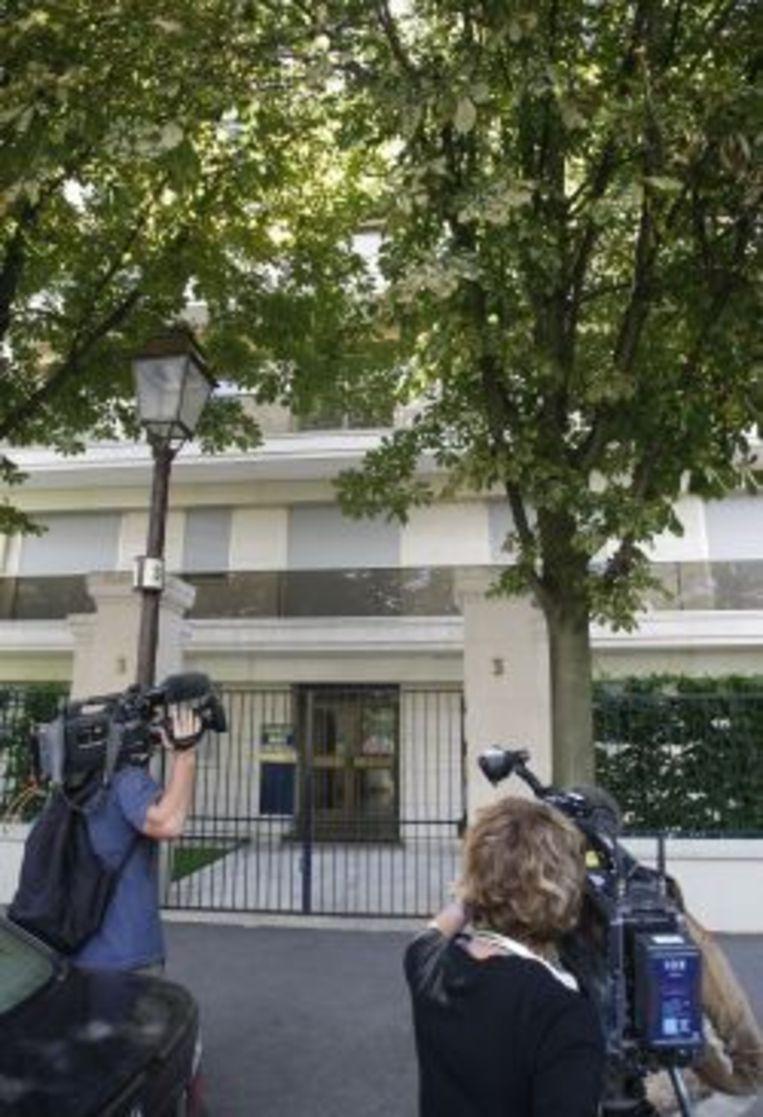 Het huis van de dochter van de 87-jarige L' Oréal-erfgename Liliane Bettencourt, Françoise Bettencourt-Meyers. Foto AP Beeld