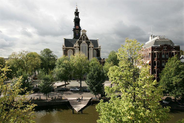 AMSTERDAM - Het Homomonument aan de Keizersgracht in Amsterdam. Het monument bestaat in het weekend van 8 en 9 september 2007 20 jaar. ANP PHOTO EVERT ELZINGA Beeld Hollandse Hoogte /  ANP