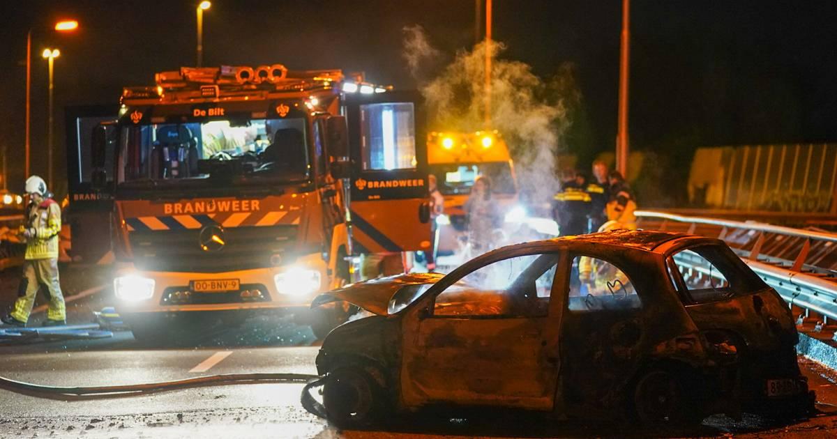 Vrouw en kind gewond bij ernstig ongeluk op de A27 bij Maarssen.