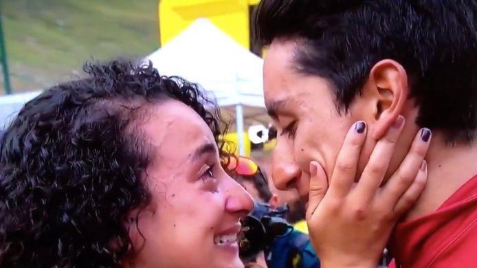 Egan Bernal en zijn vriendin Xiomy Guerrero