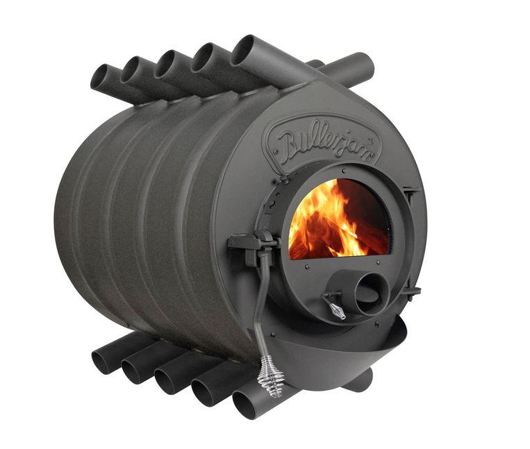 De 'Free Flow'-kachel van Bullerjan verwarmt een ruimte extra snel via zijn gebogen stalen pijpen, vanaf € 2990. bullerjan.com Beeld
