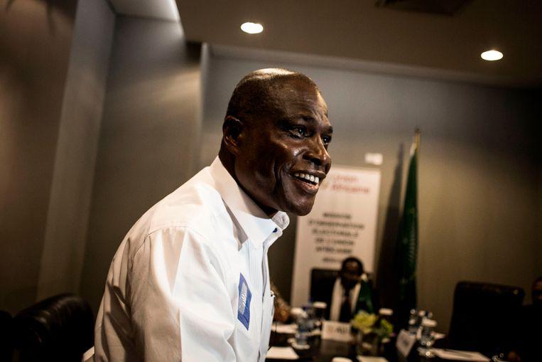 Oppositiekandidaat Martin Fayulu heeft volgens de Congolese bisschoppenconferentie de verkiezingen gewonnen. Beeld AFP