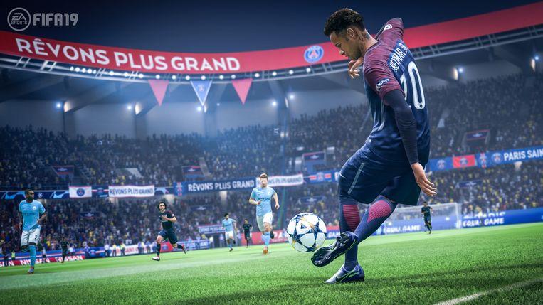 De nieuwe 'Fifa': veel vernieuwingen en verbeteringen, maar niet noodzakelijk een grote sprong ten opzichte van vorig jaar. Beeld Electronic Arts