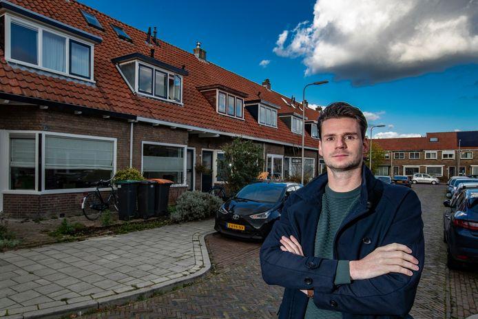 Bewoner Dirk Verholen in de Zandweerd, een wijk die de komende jaren van het gas af gaat.
