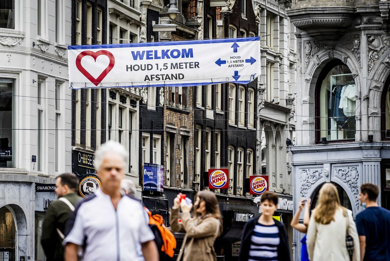 In Amsterdam komt het toerisme maar met mondjesmaat weer op gang. Beeld ANP