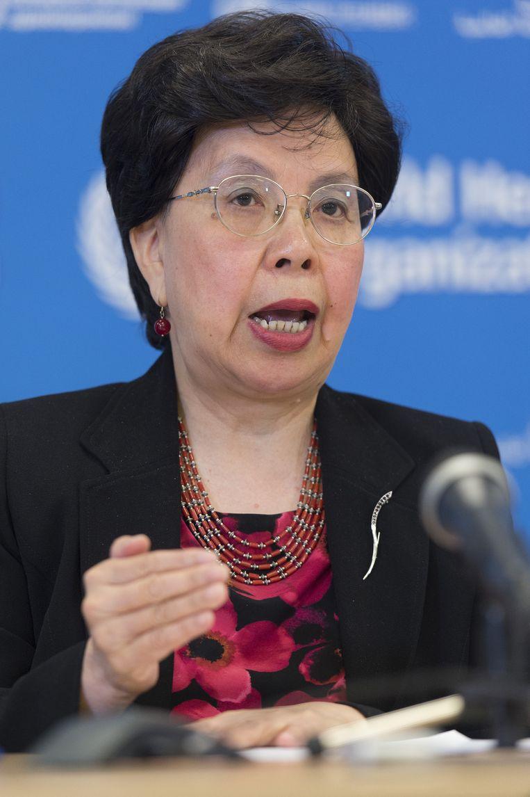 Margaret Chan, algemeen directeur van het WHO. Beeld AP