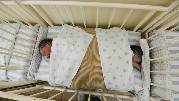 Pasgeboren baby's in Congo Beeld afp