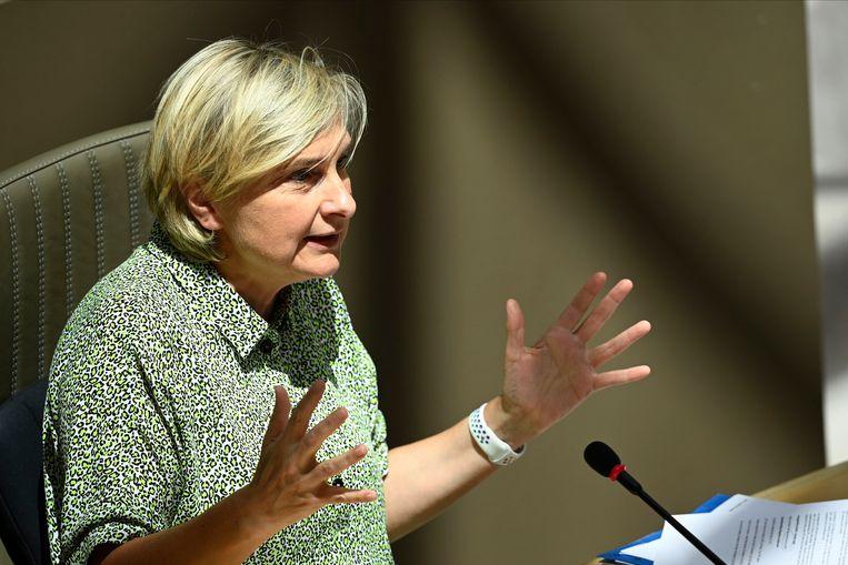 Vlaams minister van Economie Hilde Crevits (CD&V). Beeld Photo News