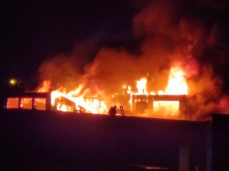 De brand in het wassalon aan de Leugenberg in Ekeren.