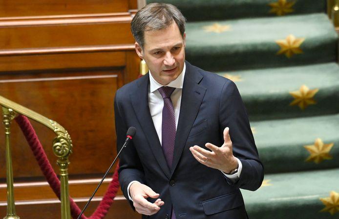 Le Premier ministre Alexander De Croo à la Chambre, ce jeudi 6 mai 2020.