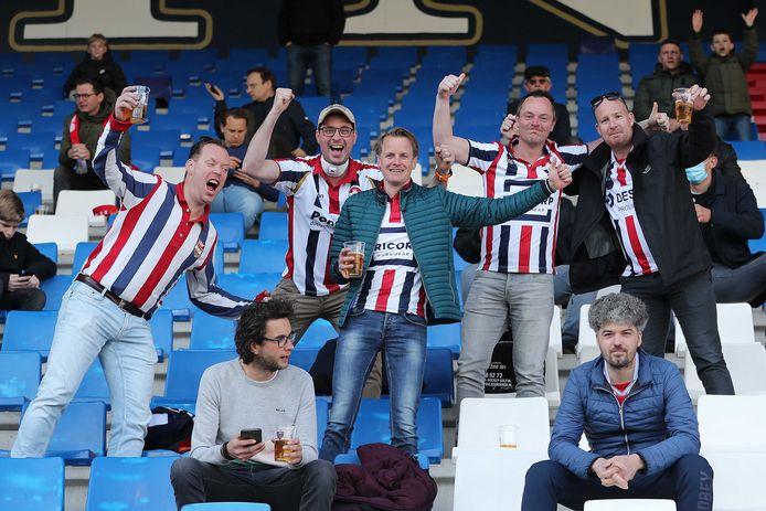 Vreugde bij de fans van Willem II.