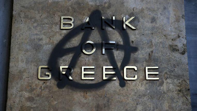 Het is de eerste keer dat een lid van de Griekse regering een bankroet nadrukkelijk niet uitsluit. Beeld REUTERS
