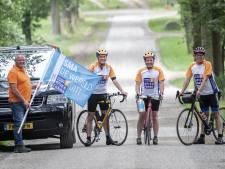 Holtenaren slagen er in 11.500 euro bij elkaar te fietsen na loodzware klim Mont Ventoux