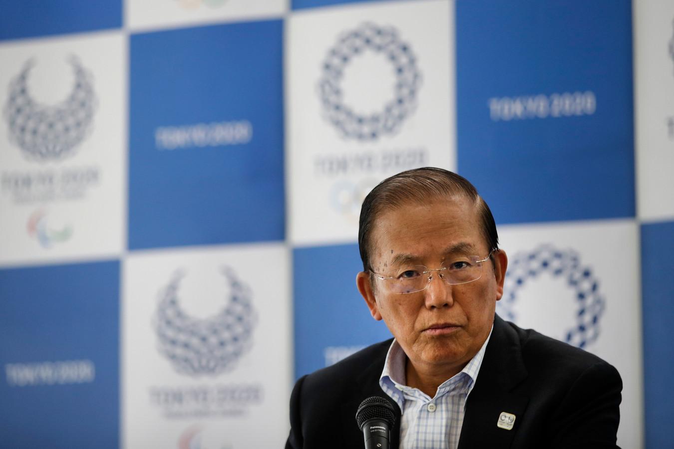 Toshiro Muto, hoofd van het organisatiecomité van de Spelen in Japan.