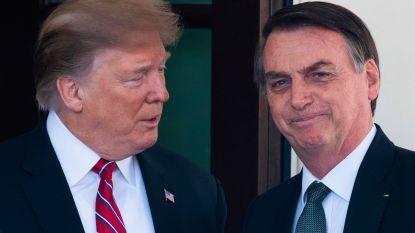 """Trump steunt Braziliaanse president: """"Bolsonaro werkt hard om bosbranden te bestrijden"""""""
