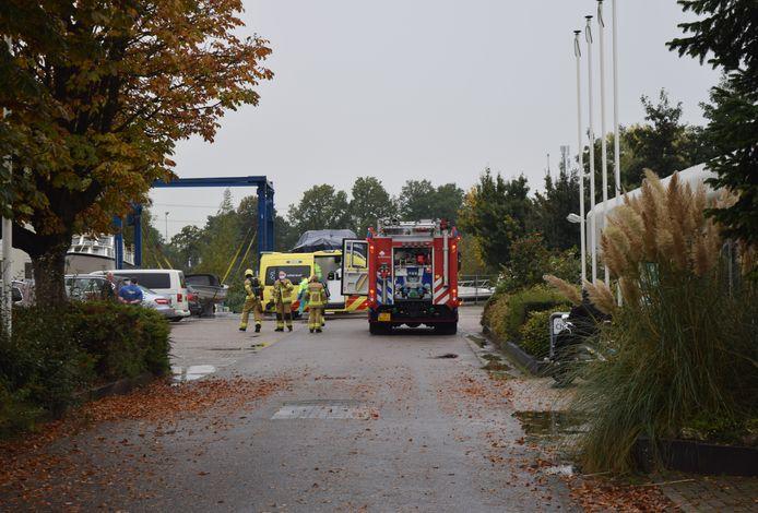 Hulpdiensten bij de gasexplosie in Terborg.